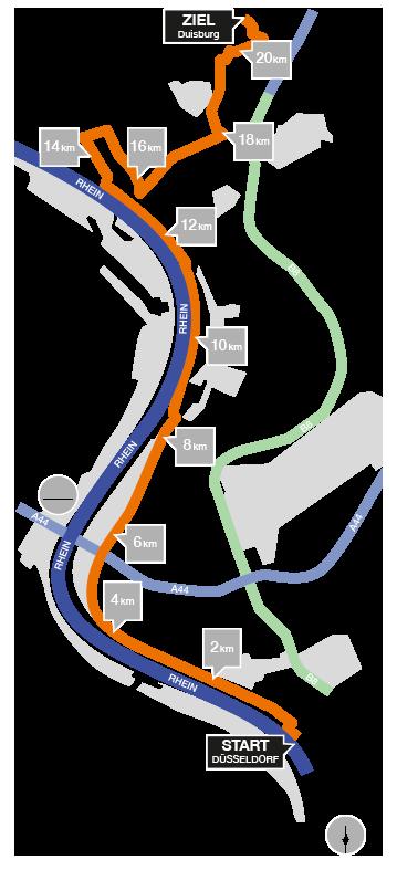 Rhein City Run Strecke